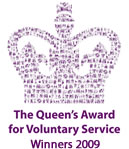 Winners of the Queen's award for voluntary services 2009