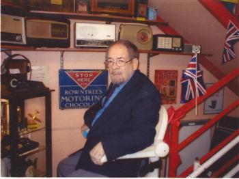 Original volunteer Mr Ello Whalen on Stairlift
