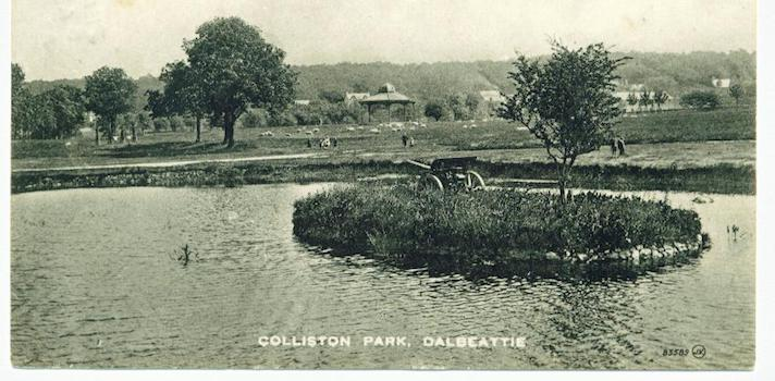 Gun on Pond Collision park Dalbeattie