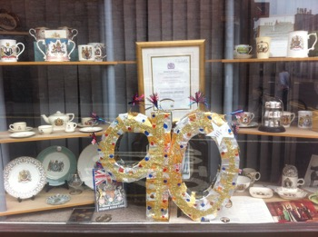 Queens 90th Birthday Window