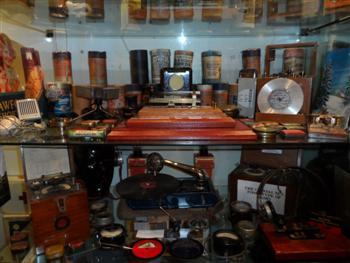 Radio Memorabilia display