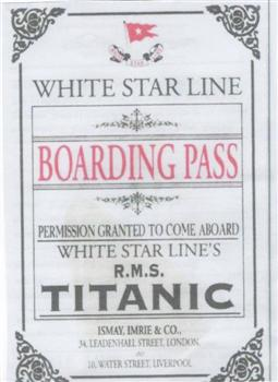 White Star Boarding Pass