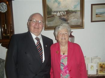 Tommy and Phemie Henderson on their Golden Wedding